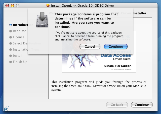 (Single-Tier) ODBC Driver for Oracle 10g Data Sources, for Mac OS X