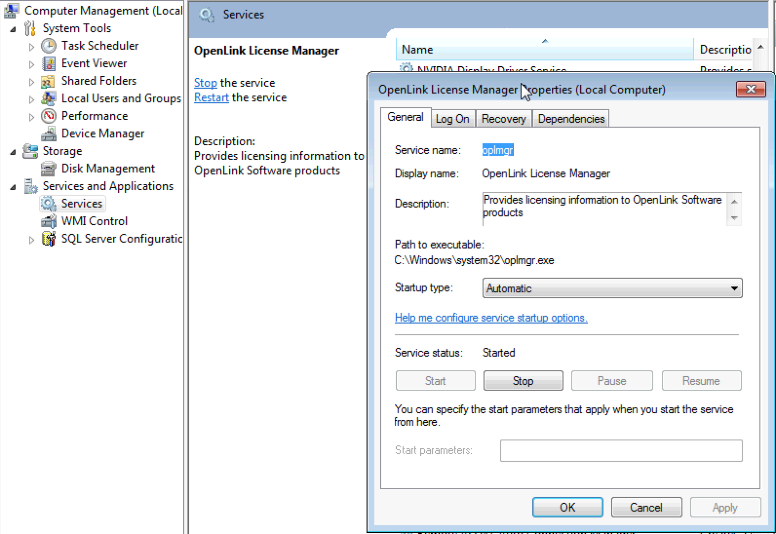 License Manager Usage Notes for Windows